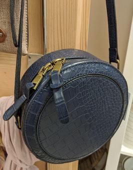 Handtasche blau rund