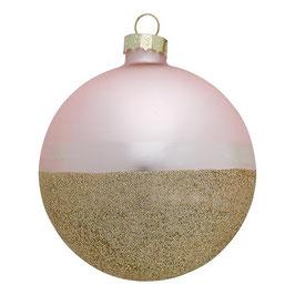 GreenGate Weihnachtskugel Penelope Gold pale pink