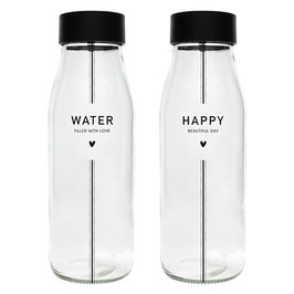 Bastion Collections Glaskaraffe Water/Happy