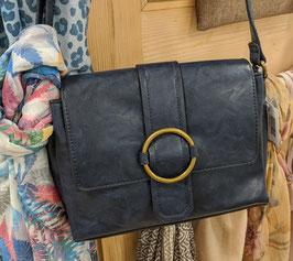 Handtasche blau glatt