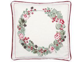 GreenGate Kissenbezug Scarlett white wreath pieceprinted