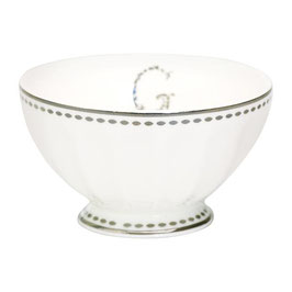 GreenGate, French Bowl, G silver, medium