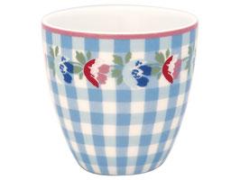 GreenGate, Mini Latte Cup, Viola check pale blue