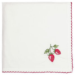 GreenGate, Stoffserviette, Strawberry red embroidery