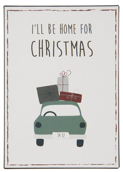 Ib Laursen Metallschild I´ll be home for Christmas