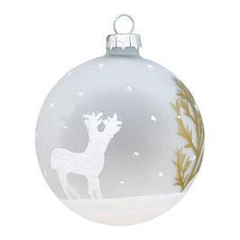 GreenGate Weihnachtskugel Josephine deer gold