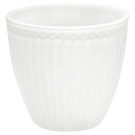 GreenGate, Latte Cup, Alice, white