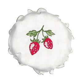 GreenGate Bezug für Marmeladenglas Strawberry white embroidery