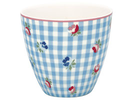 GreenGate, Latte Cup, Viola check pale blue