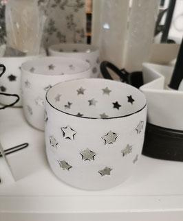 Kerzenhalter Sterne weiß
