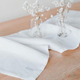 Eulenschnitt Tischläufer weiß