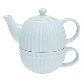 GreenGate, Teekanne Tea for one, Alice, pale blue