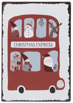 Ib Laursen Metallschild Christmas Express
