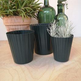 Madleys Blumentopf Metall dunkelgrün