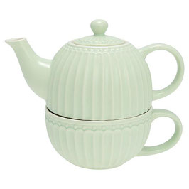 GreenGate, Teekanne Tea for one, Alice, pale green