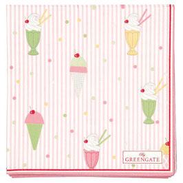 GreenGate, Papierservietten, Isa pale pink, klein