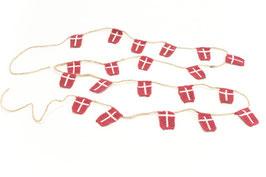 Solwang Girlande mit 20 dänischen Flaggen