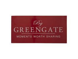 GreenGate Metallschild Logo red