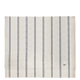 Bastion Collections, Tischläufer, naturel chambray/ Stripes black