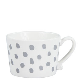 Bastion Collections, Tasse Mug, Big Dots, grey