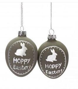 """Dekoanhänger, Glasei """"Hoppy Easter"""", Betonoptik"""