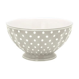 GreenGate, French Bowl, Spot grey, xlarge