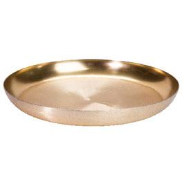 Deko Teller Shiny gold M