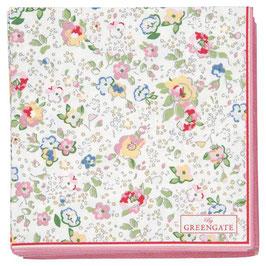 GreenGate, Papierservietten, Vivianne white, klein