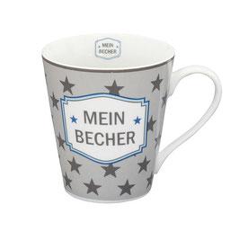 Krasilnikoff, Happy Mug mit Henkel, Mein Becher, grey