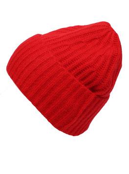Mütze 100% Kaschmir rot