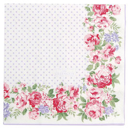 GreenGate, Papierservietten, Rose white