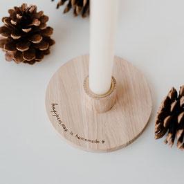 Eulenschnitt Kerzenhalter Happiness is homemade