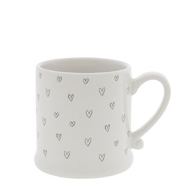 Bastion Collections Tasse Mug Hearts overall grey