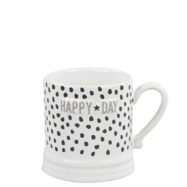 Bastion Collections, Tasse Small Mug, Happy day, titane