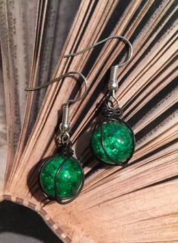 Ohrringe grün simpel