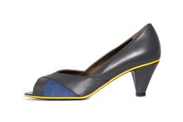 Escarpin Lisa gris et bleu