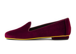 Slipper Kimia Velour bordeaux