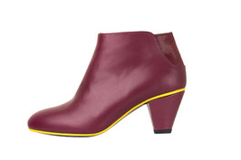 Bottine Miwa bordeaux