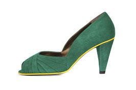 Escarpin Curu vert smeraldo