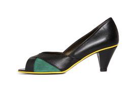 Escarpin Lisa noir et vert