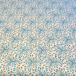 Block Print Fabric SINA Light Blue  - Starting Price per 0.5 Meter US 8.80