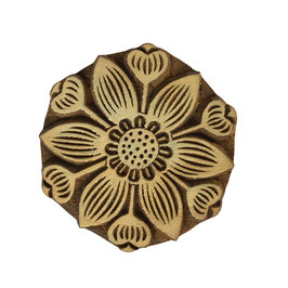 Block Print Stamp Fancy Flower  M 115