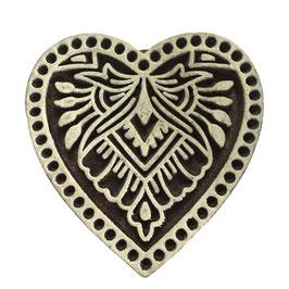 Block Print Stamp Heart No. 15