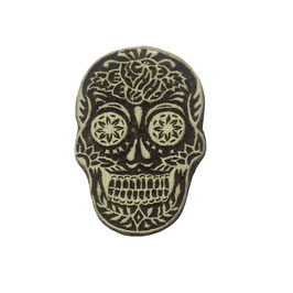 Block Print Stamp Skull  M 150