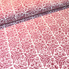 Block Print Fabric MANOU Dark Purple - Starting Price per 0.5 Meter US 8.80