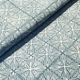 Block Print Fabric SARA Blue Turquosie - Starting Price per 0.5 Meter US 8.80