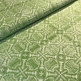 Block Print Fabric ANJOU Light Green - Starting Price per 0.5 Meter US 8.80