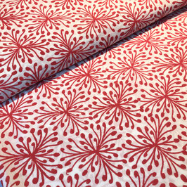 Block Print Fabric SINA Red  - Starting Price per 0.5 Meter US 8.80