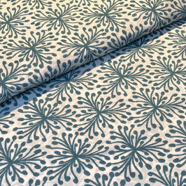 Block Print Fabric SiINA Blue Turquoise  - Starting Price per 0.5 Meter US 8.80