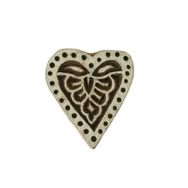 Block Print Stamp Heart No. 60